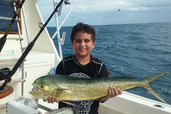 Young boy and Mahi